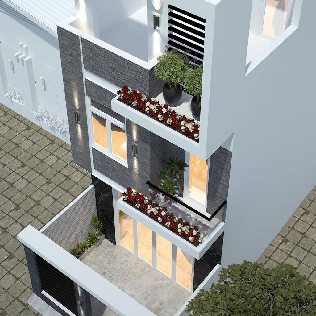 mẫu thiết kế nhà phố 3 lầu
