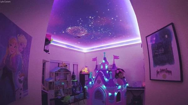 Ông bố dành 3 tháng làm Disneyland mini trong phòng con gái