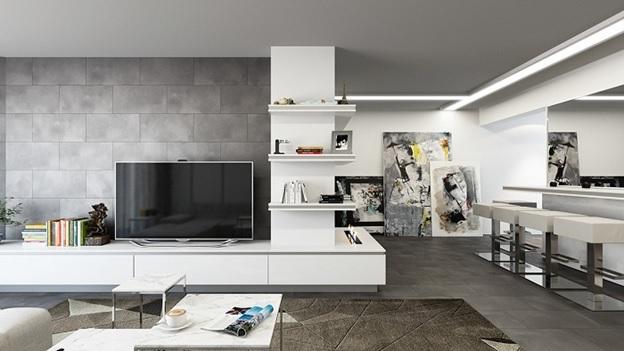 Thiết kế phòng khách theo phong cách hiện đại