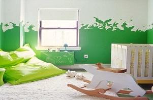 Trang trí ngôi nhà với gam xanh lá cây